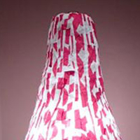 white and red lampshade